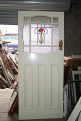 Door with leadlight & Woolloongabba Demolitions - All types of Recycled Doors